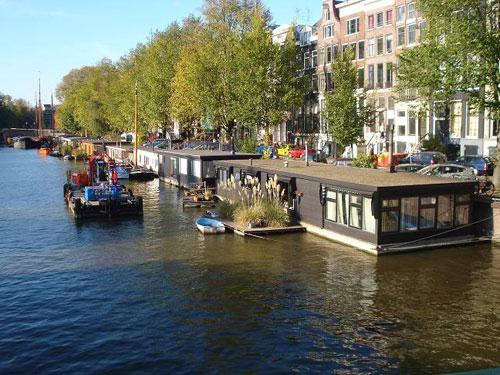 Amsterdam <b>casas</b> flotantes