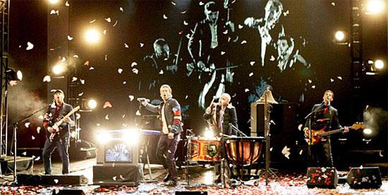Coldplay concert in Prague