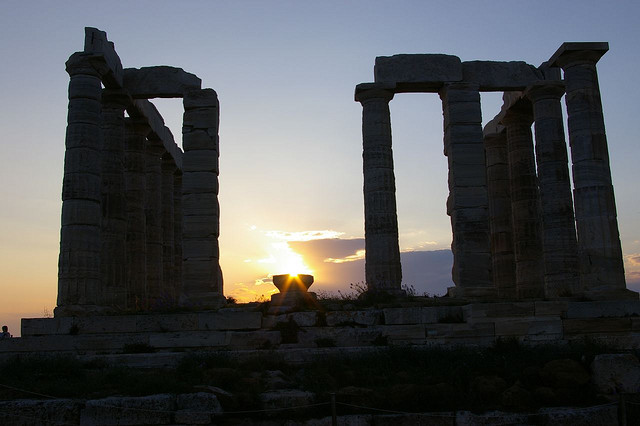 The Temple of Poseidon Overlooking the Cape of Sounion (Athens)