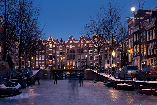 The Magic of Skating on the Canals in Amsterdam