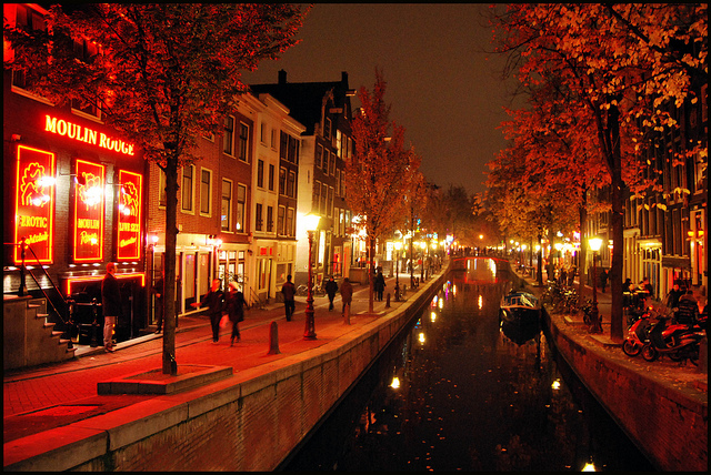 Racy Shows in Amsterdam's Red Light District