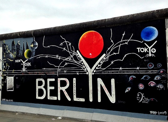 The Fall of the Berlin Wall. East Side Gallery